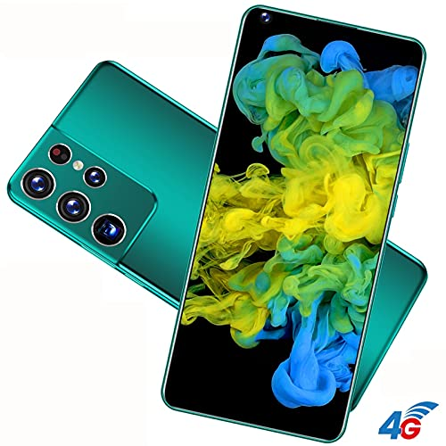 Old Man Smart Cell Phone, Teenager Game, Children Mobile Phone,Dual Card Dual Standby, 7.3 Inches HD Screen, RAM 4GB, ROM16GB, Face Recognition, WiFi+BT+FM+GPS, Support TF (Color : Green)