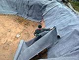 20 m² Teichvlies 500g/m² Rolle 2 x 10 Meter Schutzvlies Folienschutz für Teichfolie Vlies