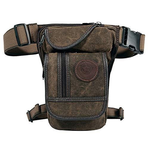 Duurzame Outdoor Tailletas/Beentas/Riemtas/Boodschappentas/Motorfiets & Fietstas/Multifunctionele tas/toolbag/voor Mannen (Olijf Bruin)