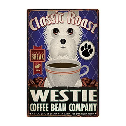 Ami0707 Plaque Vintage Portly Pug Pub Dogs Metal Tin Signs Life Is Better With A Westie Beware Of Dog Poster Home Decor Bar Wall Art Paintings 20x30cm y2590