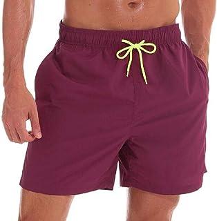 Jotebriyo Mens Sports Color Block Quick-Drying Running Elastic Waist Classic Shorts