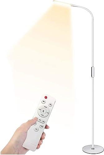 Lampadaire LED , Henzin 9W à Intensité Variable Avec Télécommande et Commande Tactile Pour Bureau, Salon, Chambre et ...