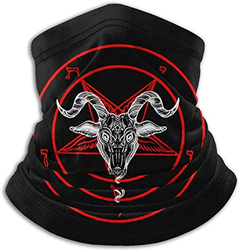 XHAJSXD Baphomet Satan Mikrofaser Nackenwärmer Kopfbedeckung Schal Maske für Frühling Maske Bandana Sturmhaube Unisex