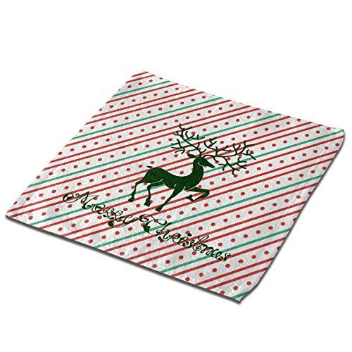 Bgejkos Juego de toallas de baño 1 paquete para baño, hotel, spa, cocina, toallas multiusos con punta de dedos y paños faciales, 33 x 33 cm, ciervo de Navidad