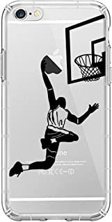 YHong iPhone 6S Basketball Case,iPhone 6 Silicone Cases with Player Dunk Shot,Personality Clear Printed Design Fashion Pattern Soft Flexible TPU Transparent Protective Phone Back Cover (4.7 Inch)
