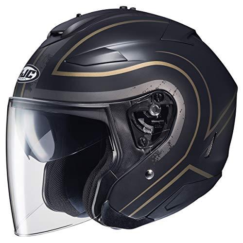 HJC Helmets IS-33 Helmet - Apus (X-Small) (Black/Gold)