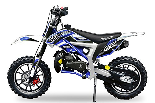 Neu Dirtbike Pocketbike Gepard Sport Edition Easy Starter Tuning Kupplung 15mm Vergaser Mini Cross Crossbike (Blau)