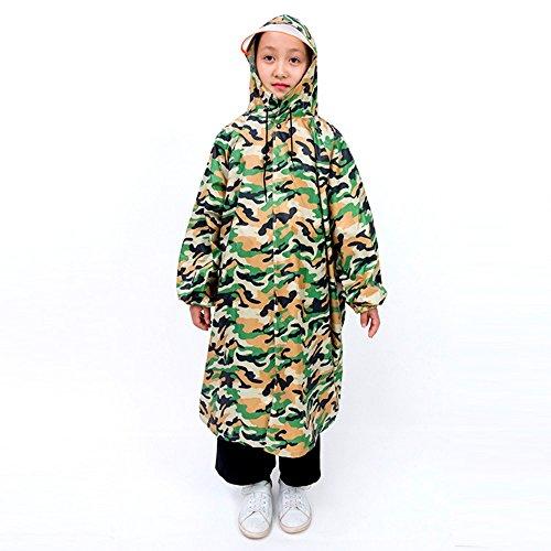 Kinderen Regen Poncho Camouflage Kinderen Regenjas Baby Outdoor Reizen Poncho Licht Ademende Quatern Seizoenen Bruikbare Regenjas Poncho XXXL