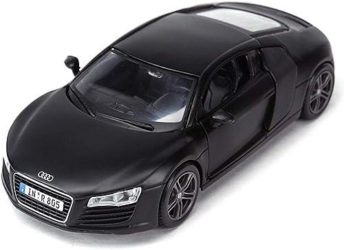 HTDZDX Modèle de Voiture Voiture 1 24 Audi R8 Simulation en Alliage de Moulage sous Pression Jouet OrneHommests Collection de Voitures de Sport Bijoux 18x8x6CM (Couleur   noir)