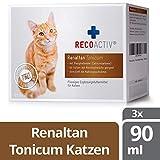 RECOACTIV Renaltan Tonicum für Katzen mit Phosphatbinder, 3 x 90 ml, Nahrungsmittelergänzung für nierenkranke Katzen, Stärkungsmittel zur Rekonvaleszenz bei Niereninsuffizienz der Katze