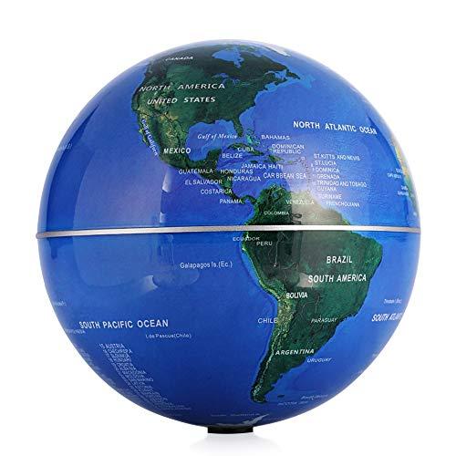 GOTOTOP Globo terráqueo de rotación automático 15cm, Globo Interactivo eléctrico Mapa Mundial de la Tierra
