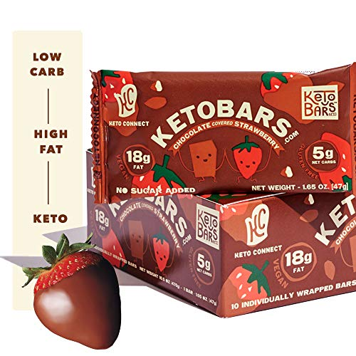 Keto Bars The Original Keto Snack Bar, Gourmet Simple Ingredients Low Carb, No Sugar, Rich in Ketogenic Fats, The Perfect KetoBars Snacks for Keto Diet Food Products (10 Pack, 1.65 ounce) 1
