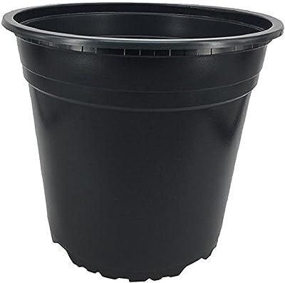 Nutley's Modiform Macetas de plástico, Negro, 5 L