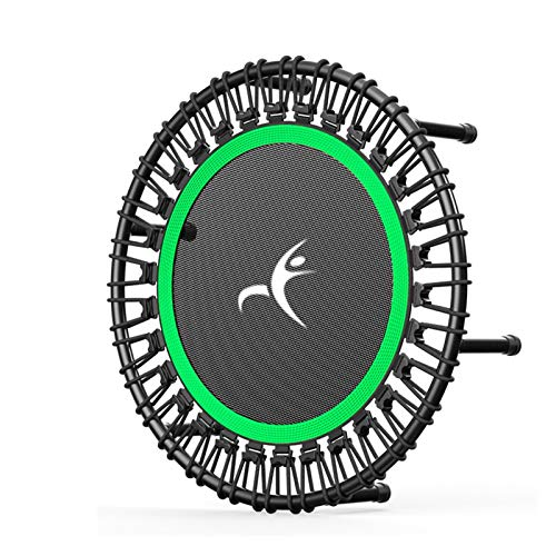 LXF JIAJU 40'Portátil Redondo Mute Adulto Trampolín Hogar Play Fitness Dedicada Cuerda Elástica Trampolín para Niños Equipos Fitness (Color : Green)