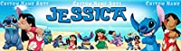 Personalized Lilo and Stitch Poster 8.5x30 Glossy Banner Custom Name Paint