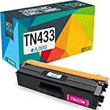 Do it Wiser Compatible Toner Cartridge Replacement for TN433M TN-433M TN431M Brother MFC L8900CDW HL-L8360CDW L8260CDW MFC-L8610CDW L9570CDW HL-L9310CDW (4,000 Pages) Magenta