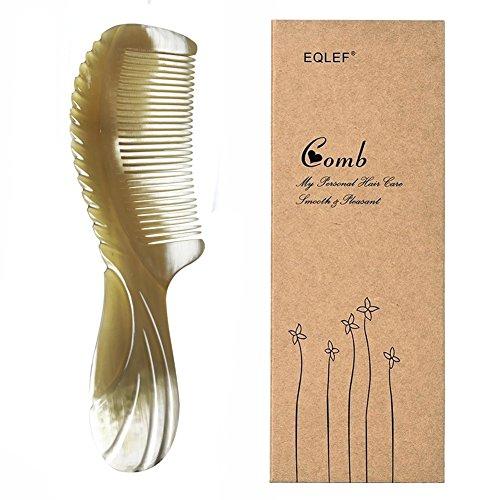 Yak Horn Kamm Exquisite Natur Yak Horn Kamm Handgemachte Yak Horn Kamm 1 Stücke (Gerade)