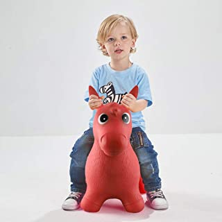 Bouncy Horse Bouncing Hopper Animals Bouncer Rocking Riding Sit and Spin Girl Boy, Inflatable Farm Hopping/Hoppity Christmas