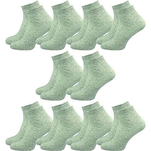 GAWILO 10 Paar Sneaker Socken   kurze Halbsocken   hoher Baumwollanteil   flache Zehennaht   kein Fusseln (43-46, grau)
