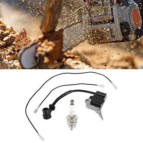 Bujía para motosierra, alta seguridad, duradera y resistente al desgaste, fácil de instalar, bobina de encendido para motosierra, material de aluminio, motosierra de alta precisión para el