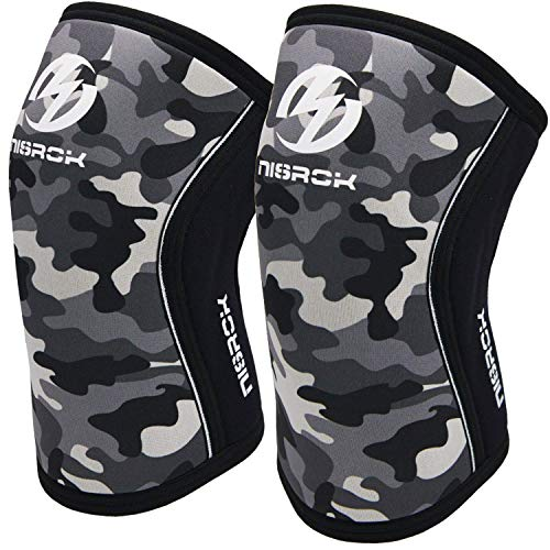 Knee Sleeves (1 Pair), 7mm Neoprene Compression Knee Braces, Great Support for Cross Training, Weightlifting, Powerlifting, Squats, Basketball and More men and women