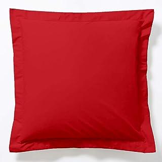 Vision Taie d'oreiller Rouge - 65x65cm - 100% coton