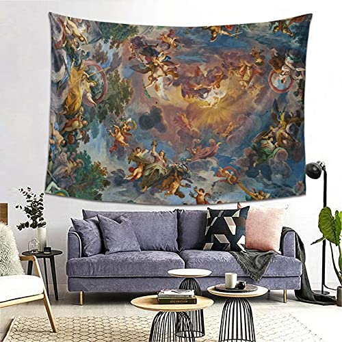 Renaissance Tapestry For Bedroom, Painting Tapestry Wall Hanging Vintage Tapestry For Ceiling,Greek Mythology Bedroom Decor Aesthetic Classical Wall Art,Vintage Home Decor(80' x 60')