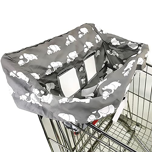 Funda de asiento para carrito de compras para bebé niño 2 en 1 Funda para carrito de niño pequeño Cojín de asiento...
