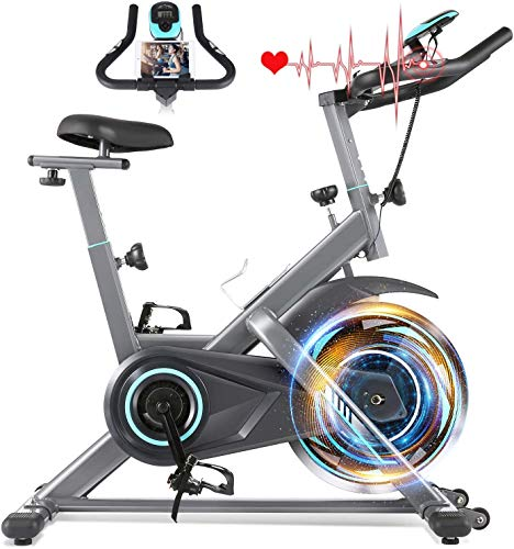 Exercise Bike 35Lbs Flywheel, Indoor Cycling Stationary Bike, Cycling Bike Heart Rate Monitor & Tablet Holder and LCD Monitor for Home Workout