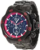 Invicta 1599 Men's Reserve Venom Stealth Black Label Special Limited Collector's Edition Chronograph Black IP Red Accented Custom Dial Swiss Made Watch