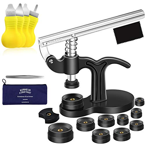 ONEBOM Watch Tool Set, Watch Repair Kit Professional with Everything, for Various Kinds of Watch (Watch Press Kit)