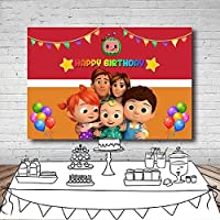 写真の背景 漫画ココメロン家族ペナントバルーン 生まれたばかりの赤ちゃんシャワー背景写真ビデオスタジオ写真撮影 誕生日パーティーの背景バナースタジオ小道具