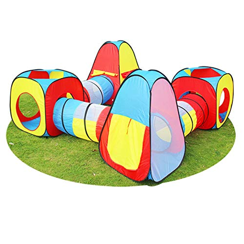 SDERF Playhouse Tents Pop-up Play Tent with Tunnel for Kids,Girls/Boys,8-in-1 Portable Big,Indoor/Outdoor Child Pop up Tent with Tunnels Playhouse for Indoor/Outdoor