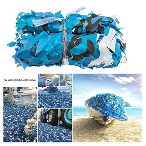Sonnenschutz Camouflage Netz Tarnnetz für Auto, dicht und robust, hinzufügen Verstärkung Net, kann als Auto Abdeckung Markise und Verkleidung (mehrere Größen erhältlich, Ocean Marine Blue Camo)