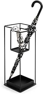 Yxsd Umbrella Stand Long Short Umbrella Rack Black Metal Home Office Hallway Storage with Two Bottom Rainwater Leaking Tray 313160 cm