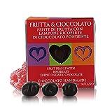 Ta Milano Frambuesa Bañada en Chocolate Negro | Ideal para San Valentín | 60 Gramos