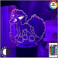3Dイリュージョンナイトランプ女の子のための新しいポニータフィギュアナイトライトベッドルームの装飾カラフルな子供たちが3Dナイトライトを導いた