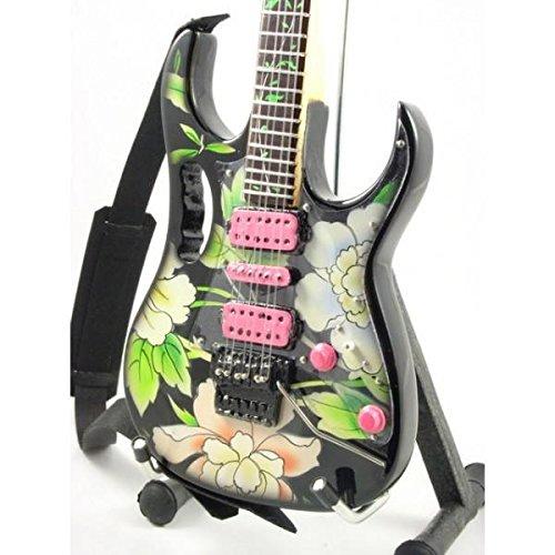 Eurasia Miniatur-Ibanez-Gitarre von Frank Zappa / Steve Vai (mit Blumenmuster)