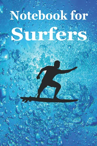Notebook for Surfers: This beautiful graph paper notebook with this magic underwater view and the surfer on its cover is designed for surfers in ... sailors etc. (Books for Surfers, Band 1)