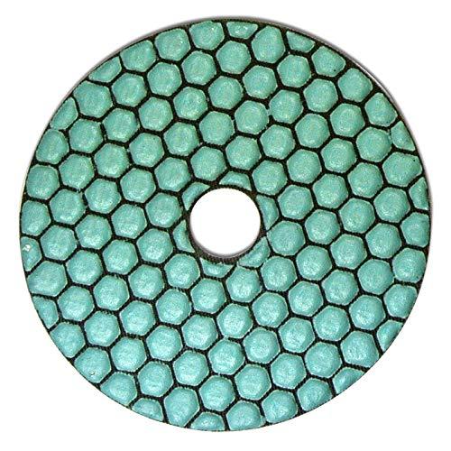 Profi Diamant-Schleifpad für Trockenschliff, D = 100 mm, Körnung 1500, Klettaufnahme, für Naturstein, Kunststein, Granit, Marmor, Glas, Keramik oder Fliesen