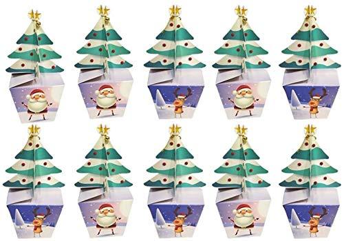 RENFEIYUAN 24 stücke 3D Weihnachten Geschenk Candy Boxes Papierboxen Weihnachten Treat Boxen for Urlaub Party Favor liefert Geschenk Paket Box