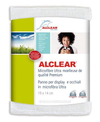 ALCLEAR 950003 950003IF Panno per Monitor in Mcrofibra per iPhone iPod iPad e Altri Telefoni Touchscreen, 19 x 14 cm, Bianco