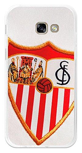 BeCool Funda Gel Flexible Sevilla FC para Samsung Galaxy A7 2017 - Carcasa TPU Licencia Oficial Sevilla FC Escudo 1