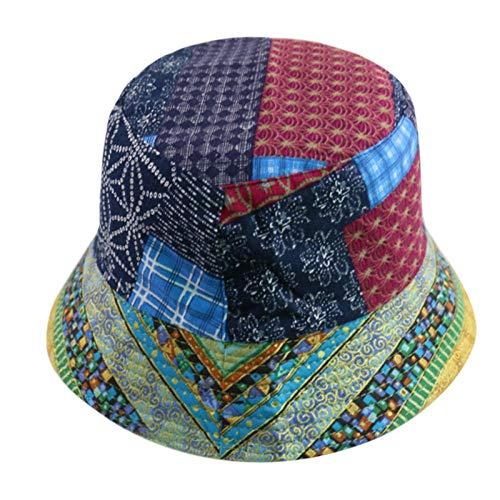 Bucket Hat Chapeau Chapeaux De Seau Géométriques De Style National De Soleil De Mode Casquettes De Pêcheur Hommes B