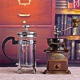 Manual Coffee Grinder Mill, la vendimia de la manivela de madera molino de café Molinillo de café, portátil for uso en el hogar y el Manual de Viajes Molino de café ZDWN ( Color : W02 , Size : W02 )