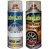 Ludwiglacke Marsrot'80 LA3A G6 für VW Spraydosen Set Autolack & Klarlack je 400ml