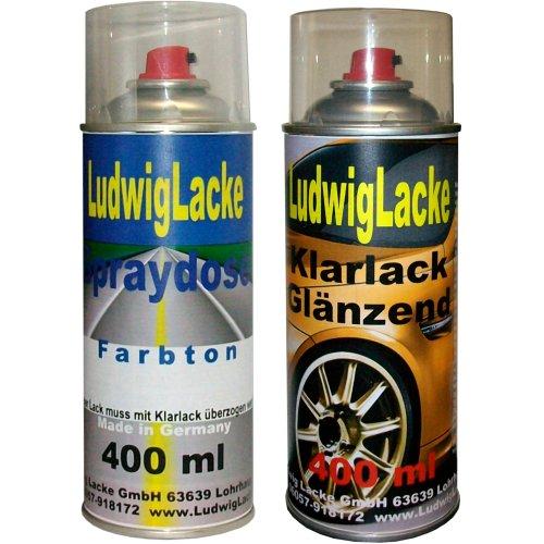 Ludwig Lacke Iceberg ATU für Opel Spraydosen Set Autolack & Klarlack je 400ml