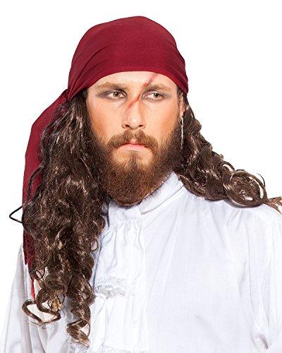 Pirata Renaissance Medieval Lino Triángulo Bandana