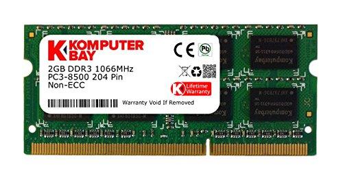Komputerbay 2GB DDR3 SODIMM (204 broches) 1066Mhz PC3 8500 pour Apple 2 Go (7-7-7-20)