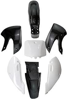 Fender Kit Fairing for Pit Bike Dirtbike KLX/DRZ 110 KLX110 KX65 Plastic Fender (Black/White)